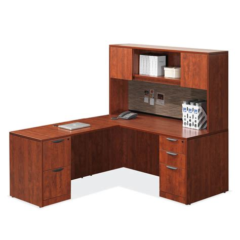 Office Desk Mobile Al by Laminate L Shaped Desk With Hutch 8 Colors Mcaleer S