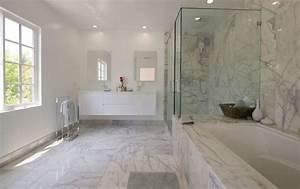 salle de bain en marbre pour un air sophistique et With salle de bain design avec vasque en marbre beige