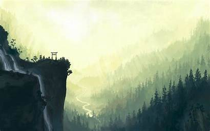 Desktop Nature Wallpapers Painting Anime Computer Indie
