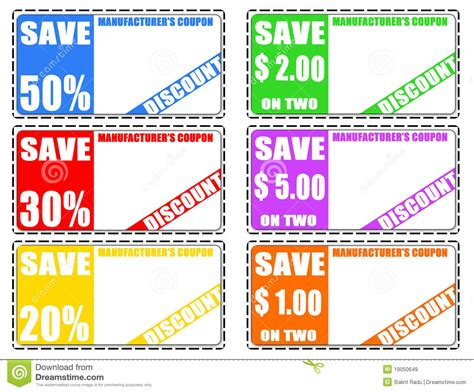 discount coupons stock vector illustration  choose