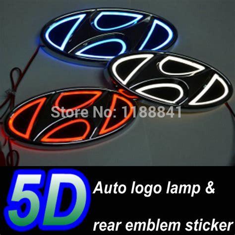 led car logo light  hyundai accent sonata  car badge led lamp auto ghost shadow