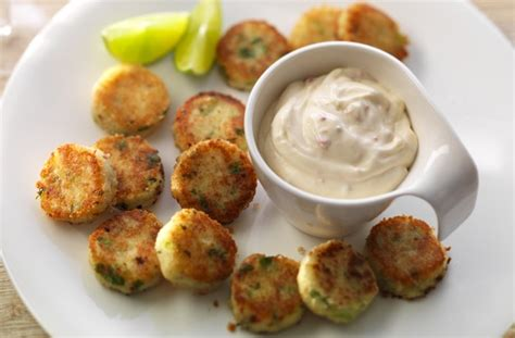 easy canapes to make in advance 40 jubilee food ideas chilly potato cakes goodtoknow