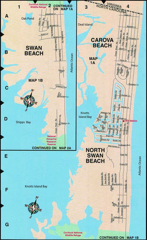 Carova Beach Map | Outer Banks | 4 Wheel Drive Area ...