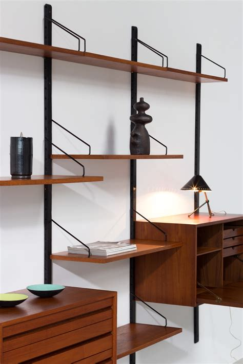 royal system wall unit by poul cadovius for royal system teak wall unit poul cadovius with desk royal system