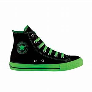 Black neon green Chucks converse chucktaylor hightops