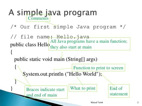 data types  java