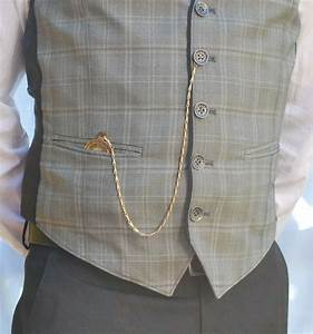 pocket watch & straight chain (with spring ring), worn ...