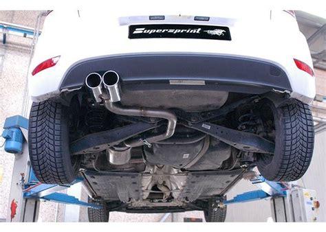 exhaust supersprint audi  p rear muffler delete