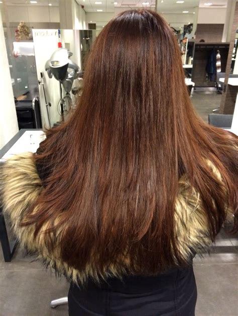 Licht kastanjebruin haarkleur