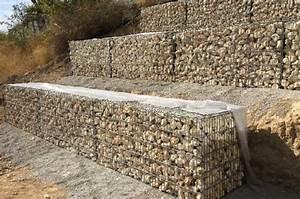 Mur En Gabion : mur de sout nement en gabions gabions lectrosoud s ~ Premium-room.com Idées de Décoration