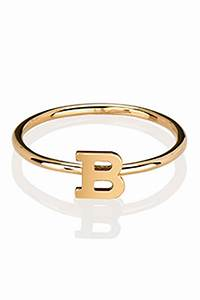 letters by zoe gold single letter ring garmentory With ring letter
