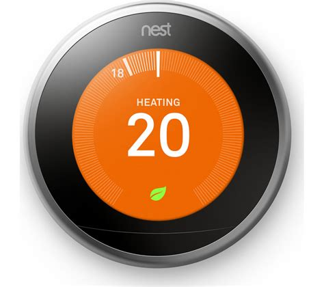 buy nest learning thermostat  generation silver