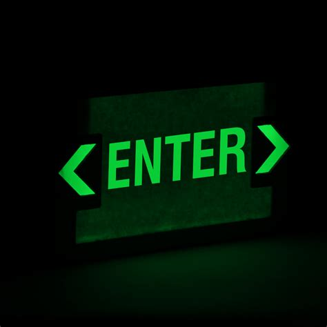 exit light enter enter led exit sign with battery backup sku exit 1037