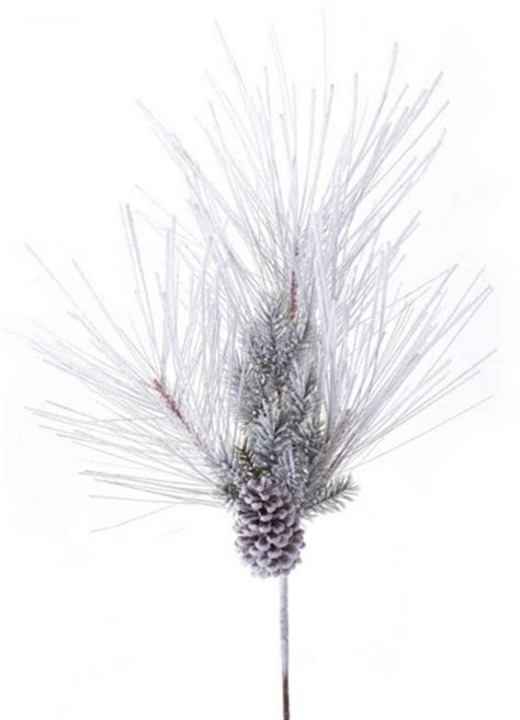 27104 pack of 6 snowy pine cone and berry artificial floral 151105 pack of 6 artificial snowy mixed pine sprays
