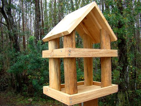 wooden bird feeders large rustic wood platform bird feeder has 2 levels use as a