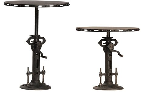the kitchen collection store custom made steunk bistro table telescoping