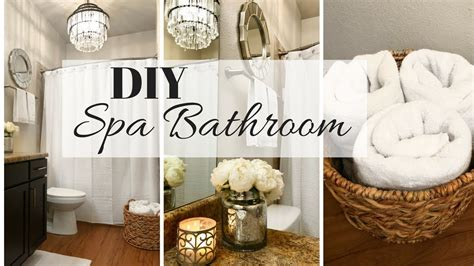 Spa Bathroom Decor Ideas  Small Bathroom Makeover Youtube