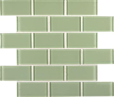 Mint Green Crystal Glass Subway Tile  Bathroom  Orange