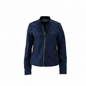 Veste Style Motard Femme : veste blouson style biker motard femme jn1093 bleu marine ~ Melissatoandfro.com Idées de Décoration