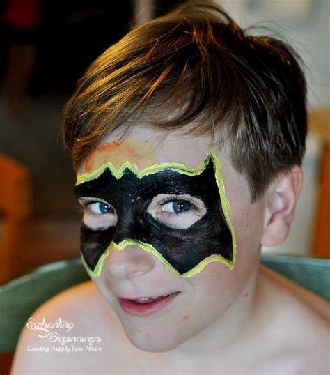 Easy Batman Face Painting for Kids
