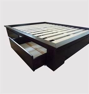 Cadre Lit 180x200 : stockholm tiroirs cadre sommier futonet ~ Teatrodelosmanantiales.com Idées de Décoration