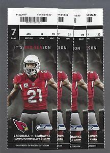 nfl seattle seahawks  arizona cardinals full unused