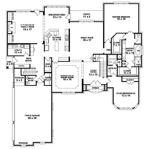 4 bedroom floor plans one 653924 1 5 4 bedroom 4 5 bath country