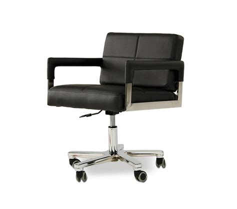 modern leather desk chair dreamfurniture com alaska modern black leather office