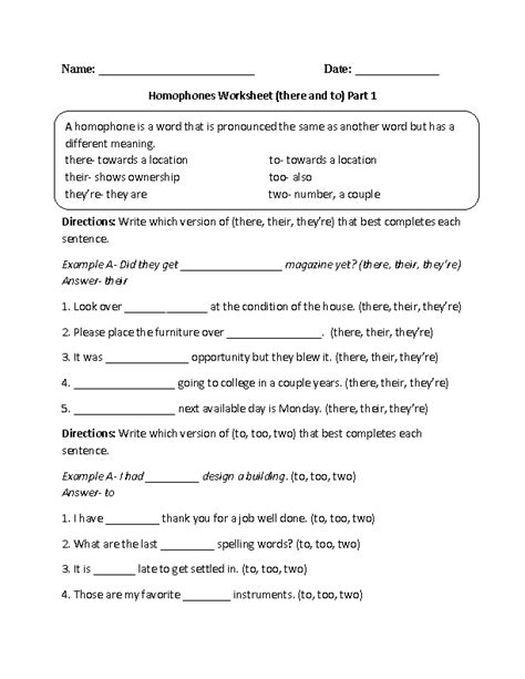 homophone worksheets 5th grade worksheets for all