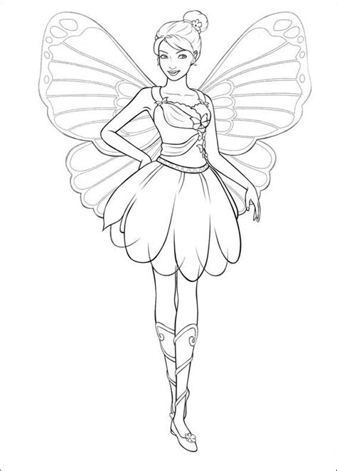 coloring pages fun barbie maripossa coloring pages