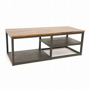 Meuble TV bois métal industriel Sasque #4871