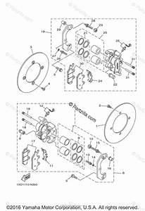 Yamaha Side By Side 2015 Oem Parts Diagram For Front Brake