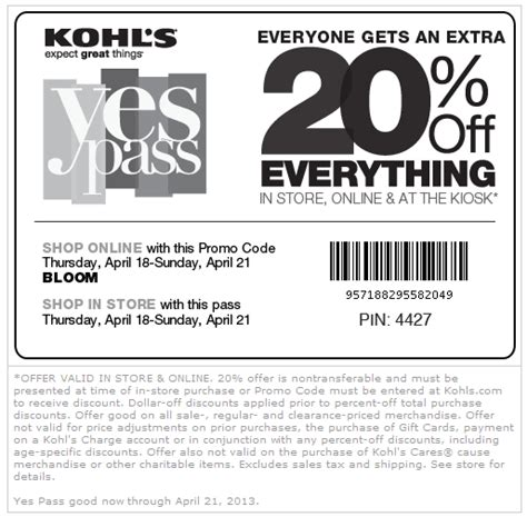 35554 Bloom Coupon Code by Pinned April 19th 20 Everything At Kohls Or