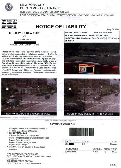 when do red light tickets come in the mail ohio resident stuck with bogus new york red light camera