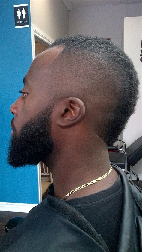 mohawk bald fade beard lining rylc barber styling pinterest beards love   mohawks