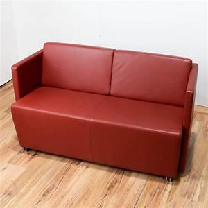 Lounge Sofa Leder : sofa lounge empfang leder orange couch b rost hle ks b rom bel ~ Watch28wear.com Haus und Dekorationen