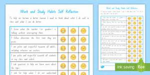 Work and Study Student Self Assessment Checklist - Student ...