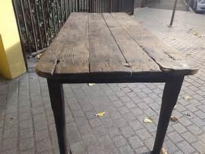 Table Ancienne De Ferme : table de ferme ancienne en ch ne bois mat riau bois couleur industriel rus0luh ~ Dode.kayakingforconservation.com Idées de Décoration