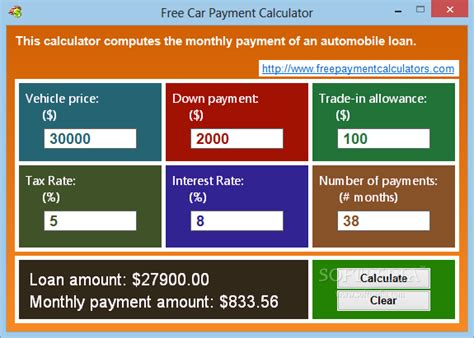 Free Car Payment Calculator Download