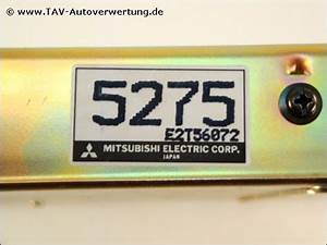 Engine Control Unit Mitsubishi Md145275 E2t56072 5275 Colt Lancer  123 00