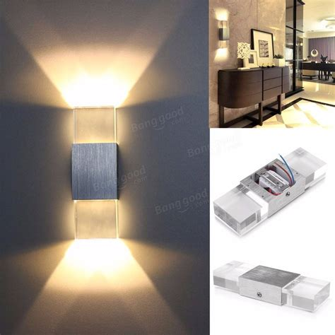 2w modern led wall light up down indoor sconce bedroom