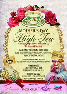 Mother's day high tea poster – Beat My Blush