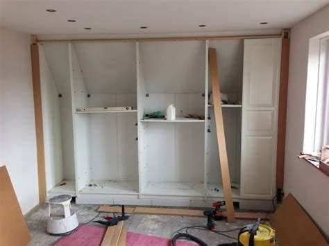 fully functional ikea fitted wardrobe  sloping ceiling