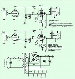 2x4w Stereo Tube Amplifier Circuit