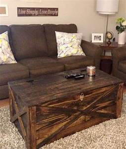 14 creative pallet furniture ideas With living room chest coffee table