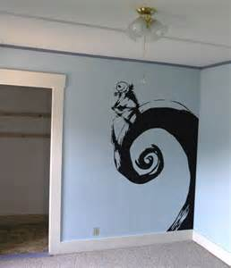 nightmare before themed bedroom skellington nightmare before wall