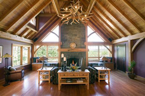 a frame home interiors 10 timber frame home designs design ideas of timber