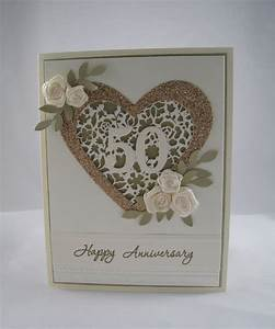 golden anniversary card stampinu With images of golden wedding anniversary cards