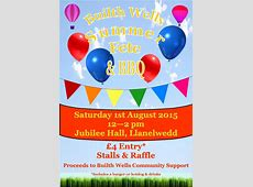Builth Wells Community Support Summer Fete & BBQBuilth