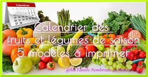 Calendrier Fruits Et Légumes De Saison : calendrier des fruits et l gumes de saison 5 mod les ~ Nature-et-papiers.com Idées de Décoration